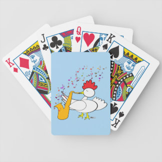 Cocky Sax Player Bicycle Playing Cards