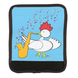 Cocky Sax Player Luggage Handle Wrap