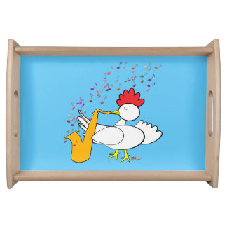 Cocky Sax Player Serving Tray