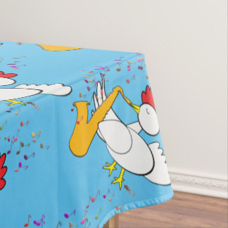 Cocky Sax Player Tablecloth