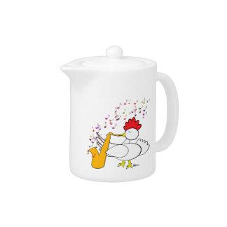 Cocky Sax Player Teapot