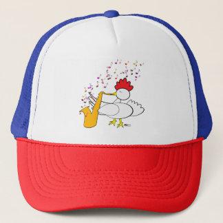 Cocky Sax Player Trucker Hat