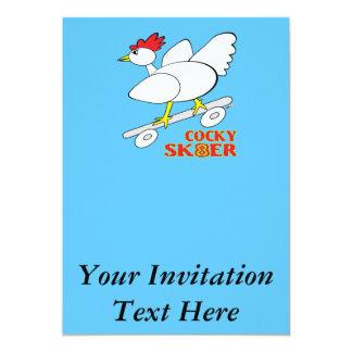 Cocky Skater Card