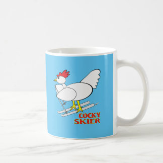 Cocky Skier Coffee Mug
