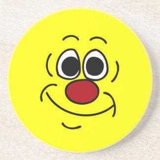 Cocky Smiley Face Grumpey Drink Coaster