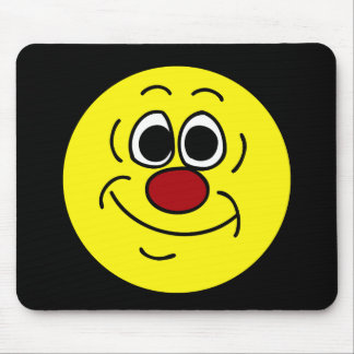 Cocky Smiley Face Grumpey Mouse Pad