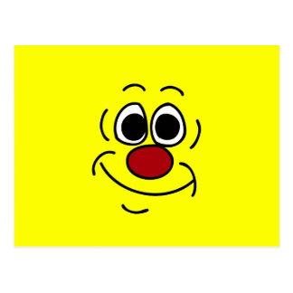 Cocky Smiley Face Grumpey Postcard