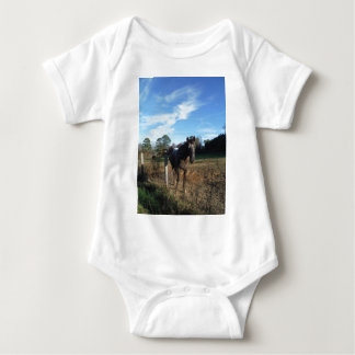 Coco and Cream brown horse Baby Bodysuit