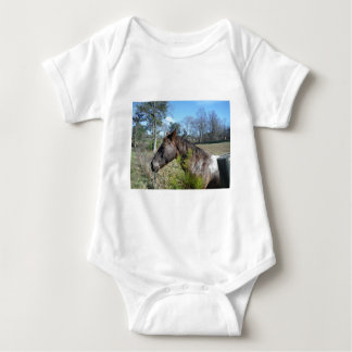 Coco and Cream Colored Horse Baby Bodysuit