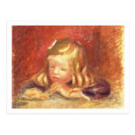 Coco at the Table (Claude Renoir Reading) 1905 (oi Postcard