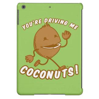 ¡Coco Boy™-usted me está conduciendo los cocos! Funda Para iPad Air