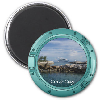 Coco Cay, Bahamas 2 Inch Round Magnet