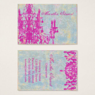 Coco Chandelier 2 - CHANGE COLOR Business Cards