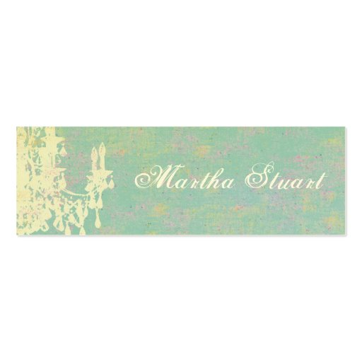 Coco Chandelier CHANGE COLOR / EGG SHELL PAPER Double-Sided Mini Business Cards (Pack Of 20)