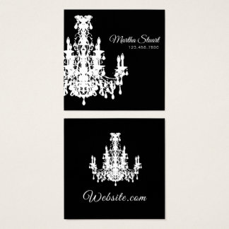 Coco Chandelier CHANGE COLOR - Square Business Card