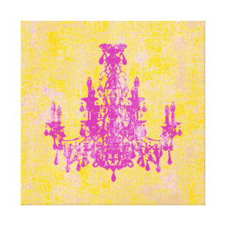 "Coco Chandelier ~ Wrapped Canvas .75"" Thick"