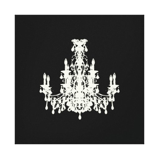"""Coco Chandelier ~ Wrapped Canvas .75"""" Thick Stretched Canvas Print"""