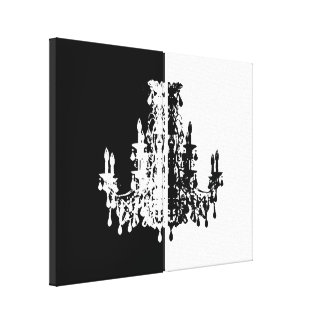 "Coco Chandeliers ~ Wrapped Canvas .75"" Thick"