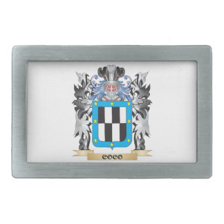 Coco Coat of Arms - Family Crest Rectangular Belt Buckles
