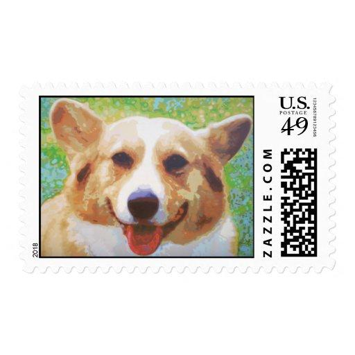 Coco Corgi Stamps