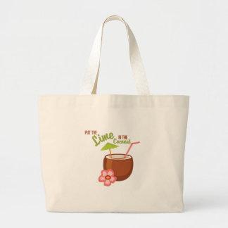 Coco de la cal bolsa tela grande