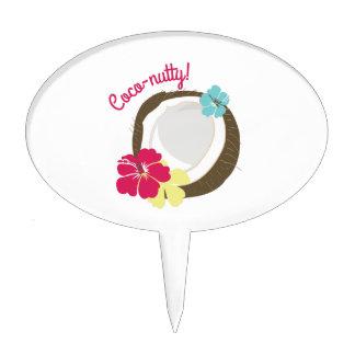 Coco-de nuez decoración de tarta