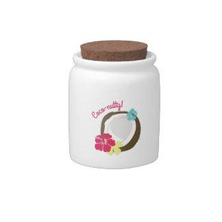 Coco-de nuez platos para caramelos