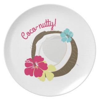 Coco-de nuez platos para fiestas
