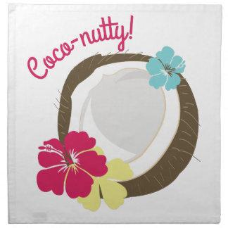 Coco-de nuez servilletas de papel