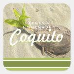 Coco del Coquito Pegatina Cuadrada