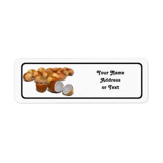 Coco Hazel Nut Return Address Label