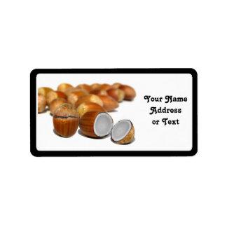 Coco Hazel Nut Address Label