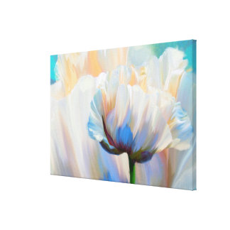 Coco In Love, dramatic floral art wrapped canvas