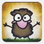 Coco in the Grass Square Sticker