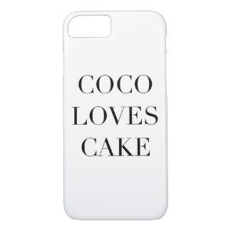 Coco Loves Cake I Phone 6/6S iPhone 7 Case