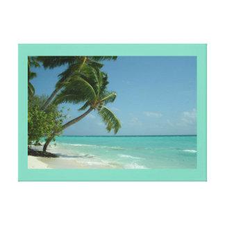 Coco Nut Trees Beach Premium Canvas (Gloss)
