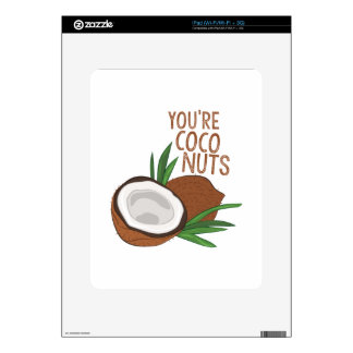 Coco Nuts Decals For iPad