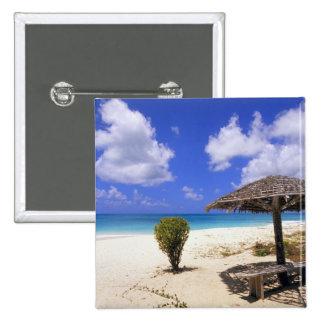 Coco Point Beach, Barbuda, Antigua 2 Inch Square Button