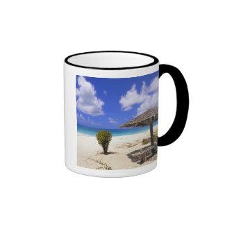 Coco Point Beach, Barbuda, Antigua Ringer Coffee Mug
