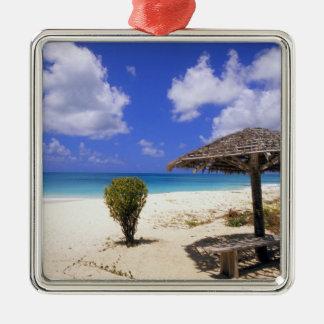 Coco Point Beach, Barbuda, Antigua Square Metal Christmas Ornament