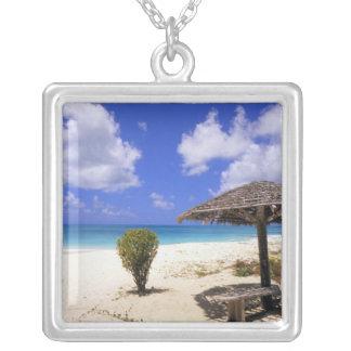 Coco Point Beach, Barbuda, Antigua Square Pendant Necklace