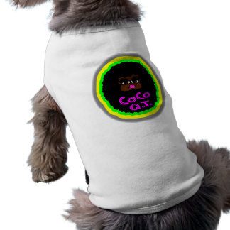CoCo Q.T., Brown Gorgeous Face With Big Curly Hair Doggie T-shirt