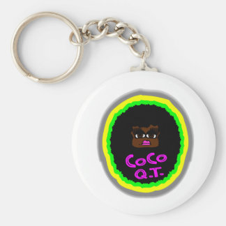CoCo Q.T., Brown Gorgeous Face With Big Curly Hair Keychain
