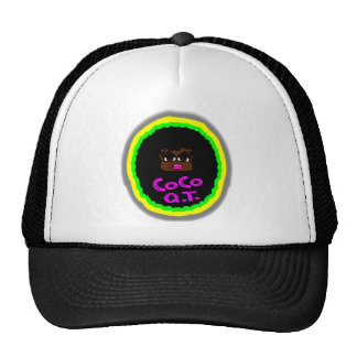 CoCo Q.T., Brown Gorgeous Face With Big Curly Hair Trucker Hat