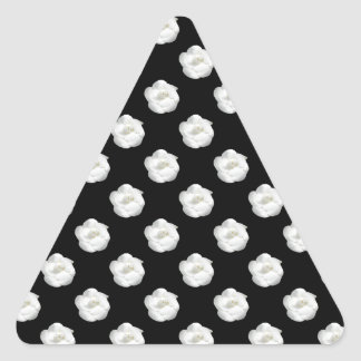 Coco White Camelia Triangle Sticker