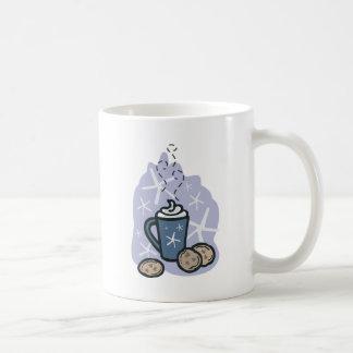 cocoa and cookies classic white coffee mug
