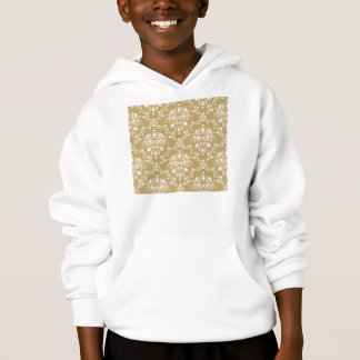Cocoa and Cream Damask Hoodie