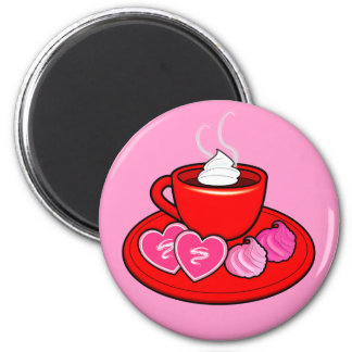 Cocoa and Valentine's Cookies Magnet