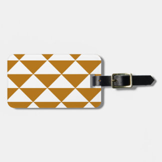 Cocoa and White Triangles Bag Tag