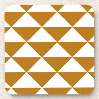 Cocoa and White Triangles Coasters